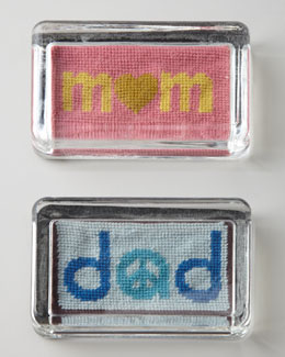 Jonathan Adler Needlepoint Parent Paperweight