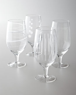 "Mikasa Four ""Cheers"" Iced Tea Glasses"