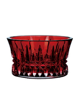 "Waterford ""Lismore Diamond"" Crimson Nut Bowl"