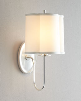 "VISUAL COMFORT ""Simple Scallop"" Sconce"