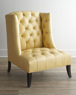 "Old Hickory Tannery ""Windmere"" Leather Chair"