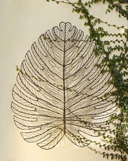 Giant Metal Leaf Wall Decor