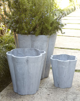 Three Scallop Planters