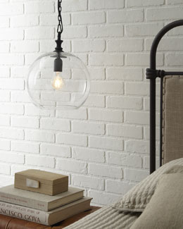 Glass Ball Pendant Light