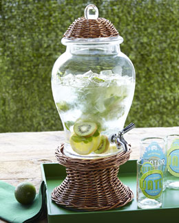 """Willow"" Glass Beverage Dispenser"