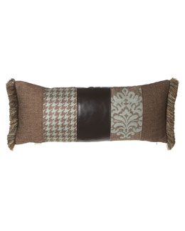 "Dian Austin Villa 14"" x 33"" Pieced Pillow with Side Fringe"
