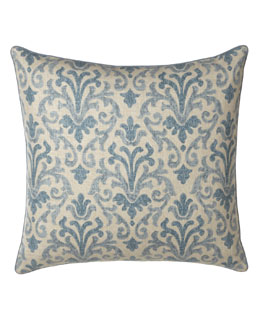 Jane Wilner Designs Blue Damask European Sham