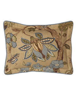 "Jane Wilner Designs Jacobean Floral Breakfast Pillow, 12"" x 16"""