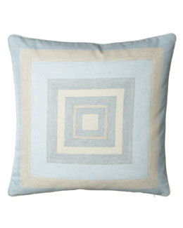 "Legacy Home Mitered-Stripe Pillow, 22""Sq."