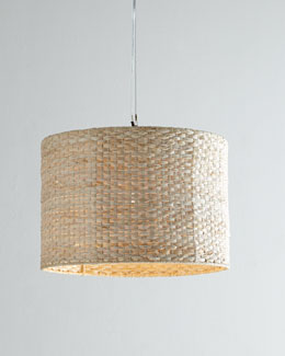 Woven Straw Pendant Light