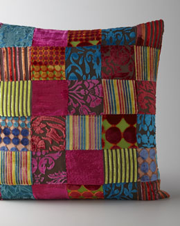 Velvet Patchwork Pillow