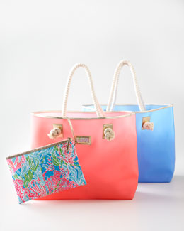 "Lilly Pulitzer ""Shoreline"" Tote with Wristlet"