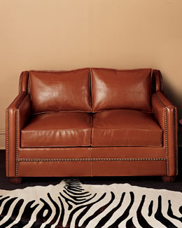 Old Hickory Tannery Leather Sofa, Large