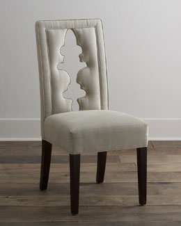 "Haute House ""Bailey"" Carved-Back Chair"