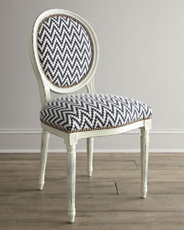 "Old Hickory Tannery ""Kuddos"" Chevron Chair"