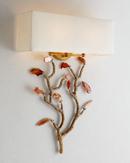 John-Richard Collection Agate Wall Sconce