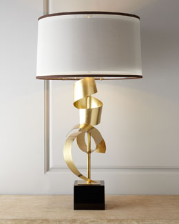 "John-Richard Collection ""Brass Curls"" Table Lamp"