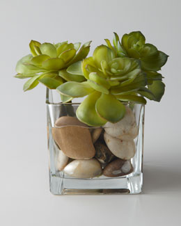 "John-Richard Collection ""Rocky Succulents"" Faux Greenery"