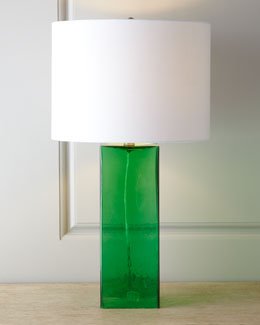 Glass Base Table Lamp