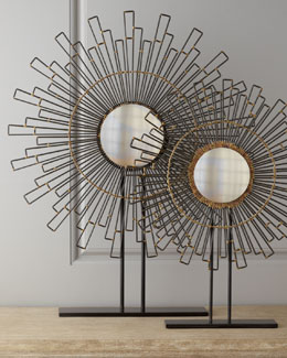 "John-Richard Collection Two ""Geometry"" Sunburst Mirrors"