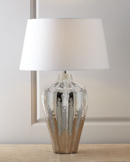 "Arteriors ""Shelby"" Polished Nickel Table Lamp"