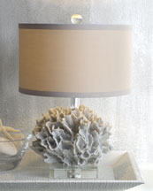 """White Coral"" Mini Lamp"