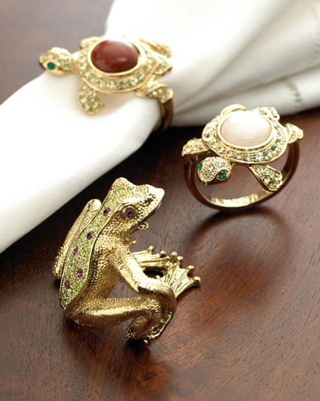 Gold Frog Napkin Rings