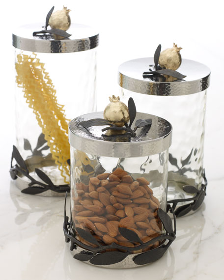 Michael Aram Quot Olive Branch Pomegranate Quot Canisters
