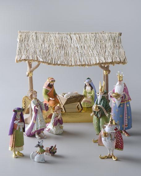 Star on High Nativity Figure