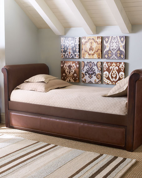 """Ethan"" Leather Daybed with Trundle"