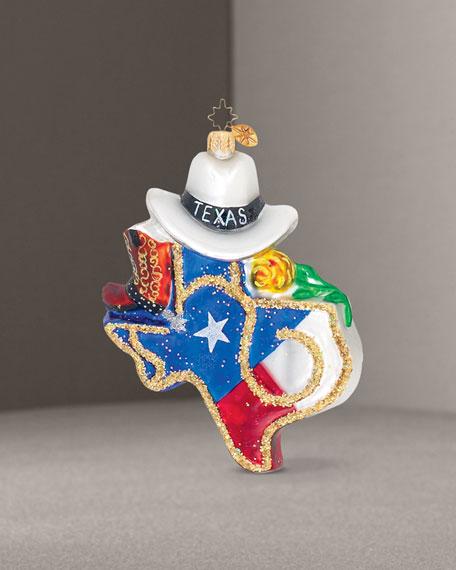 """""""Texas Pride"""" Glass Ornament"""