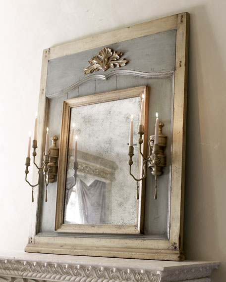 Mirror with Candle Sconces