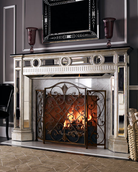 Mirrored Mantel