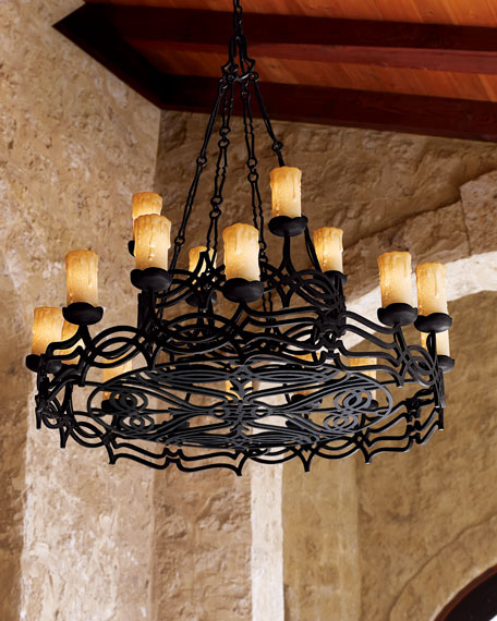 John richard collection wrought iron chandelier aloadofball Images