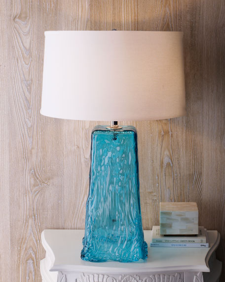 """Blue Wave"" Table Lamp"