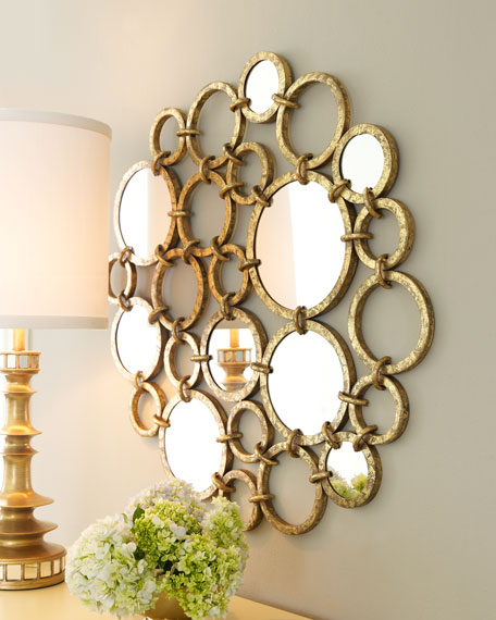 Mirrored Rings Wall Decor
