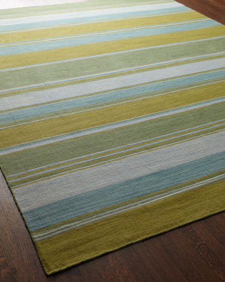 Jaipur Rugs Inc Lime Green Stripe Rug