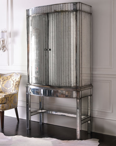 John Richard Collection Quot Viola Quot Mirrored Bar Cabinet