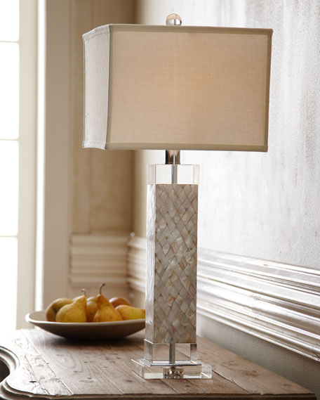 Regina andrew design mother of pearl table lamp aloadofball Choice Image