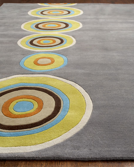 """Tunnels Vision"" Rug, 5' x 8'"