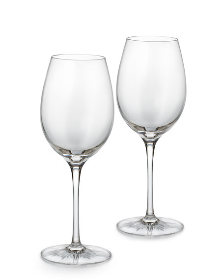 "Two ""Light"" Red Wine Glasses"