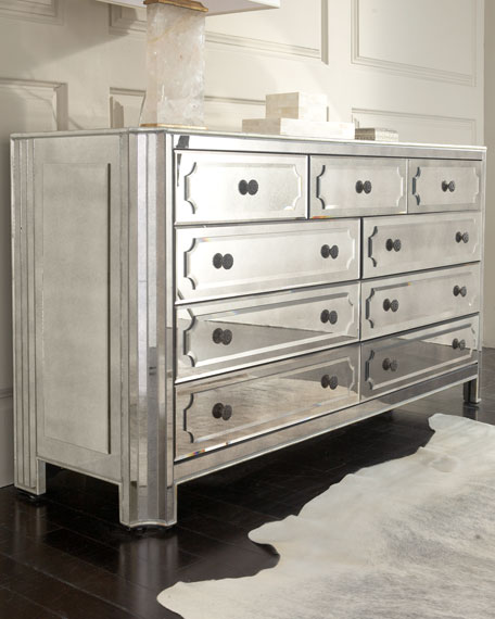 """Logan"" Large Mirrored Chest"
