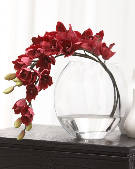 Deep Rose Orchid Faux Floral
