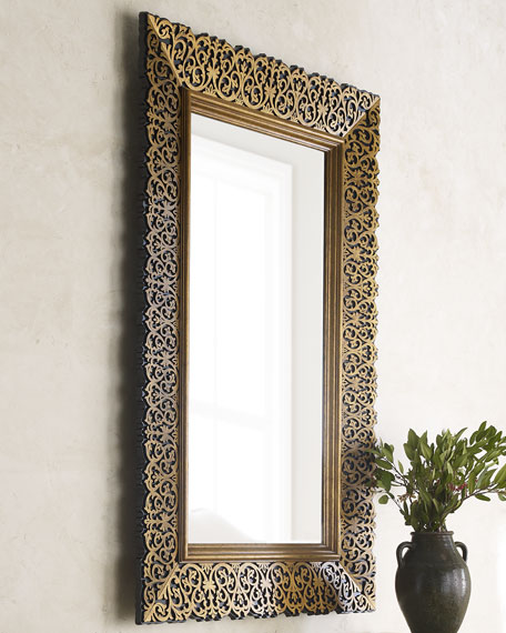 Maitland Smith Laser Cut Wood Frame Mirror