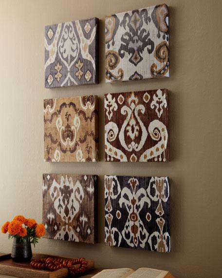 Set of Six Ikat Prints