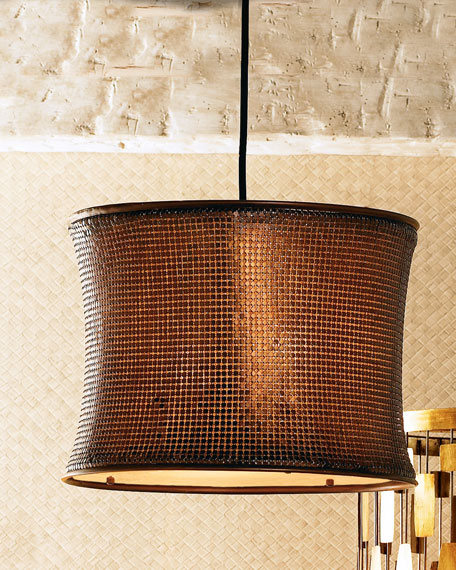 Copper Mosaic Chandelier