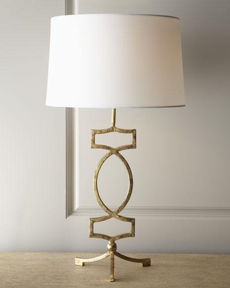 Gold Leaf Iron Lamp