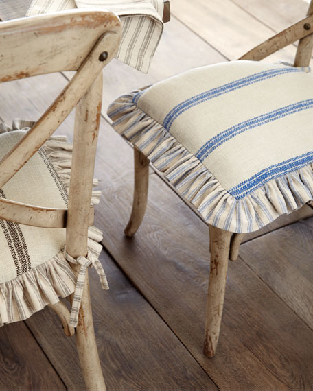 Ticking Stripe Seat Cushion