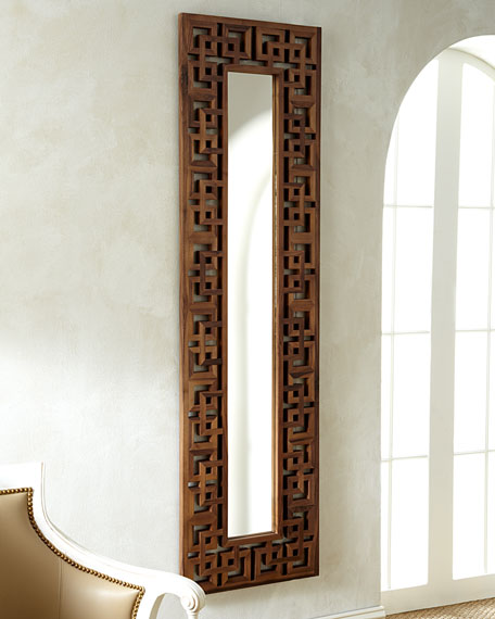 Wooden fretwork mirror for Stores like horchow