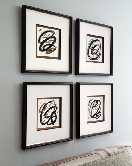 Four Circle Abstract Prints